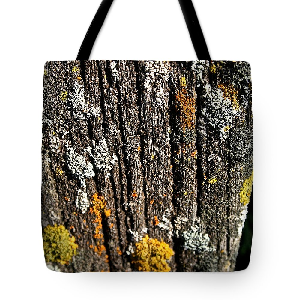 Outdoors Tote Bag featuring the photograph Weathered Post by Susan Herber