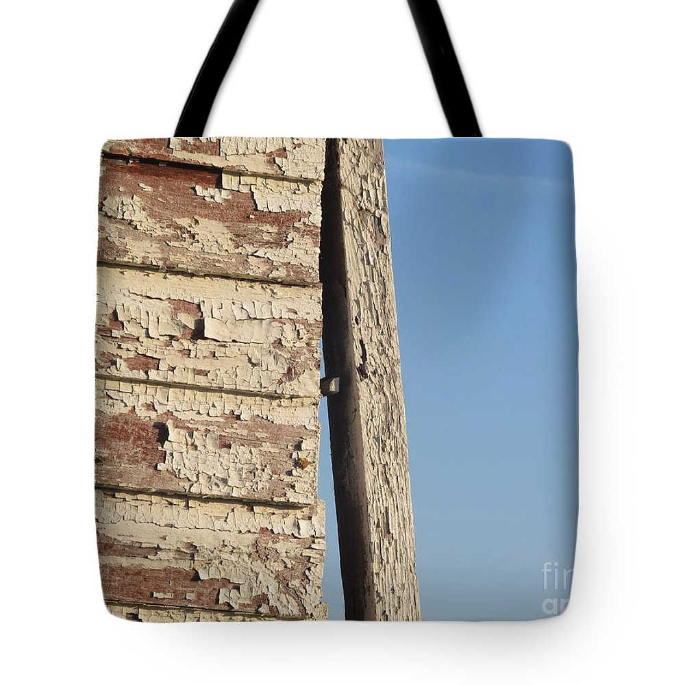 Barn Tote Bag featuring the photograph Weathered South Barn Wall by Tina M Wenger