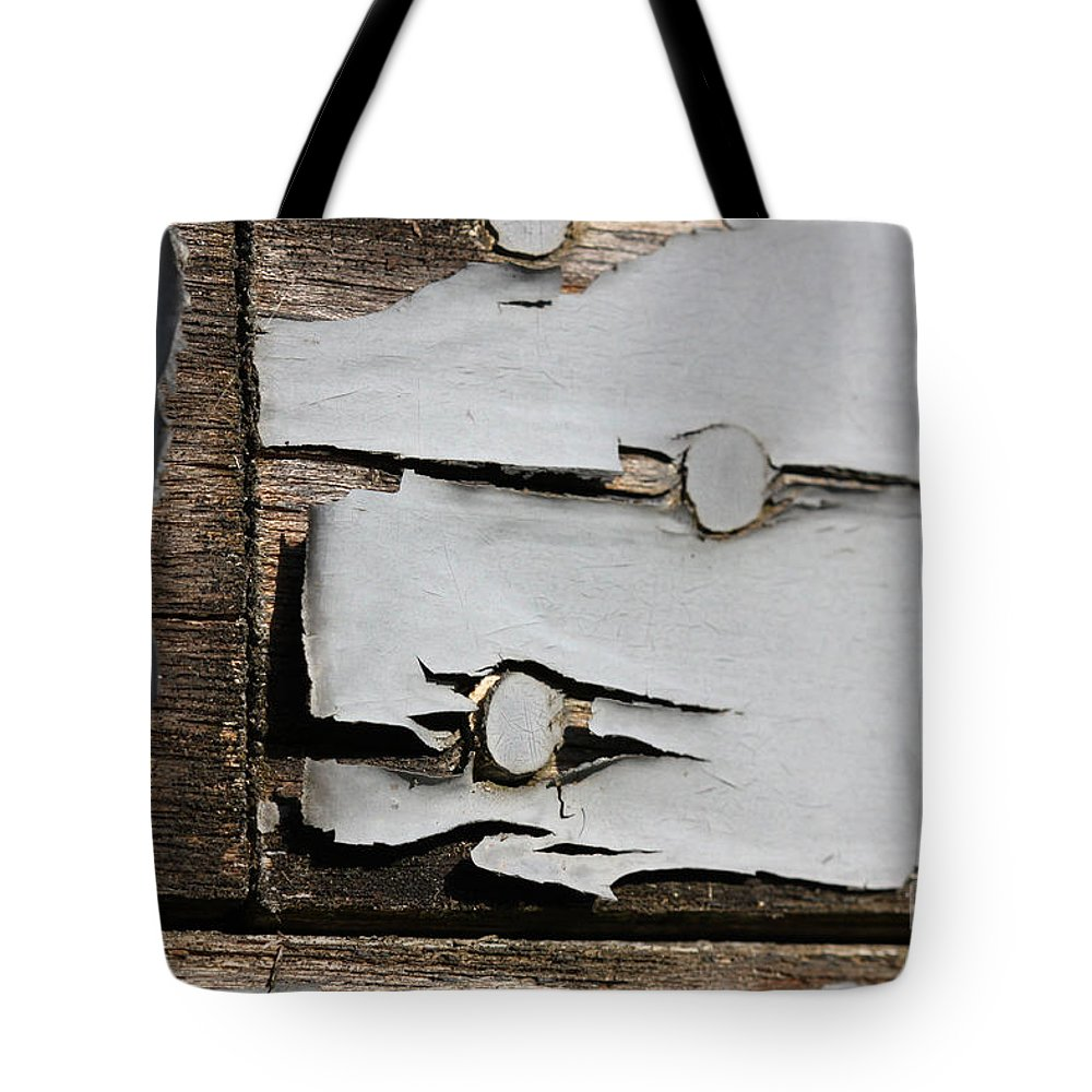 Abstract Tote Bag featuring the photograph Weathered by Todd Blanchard