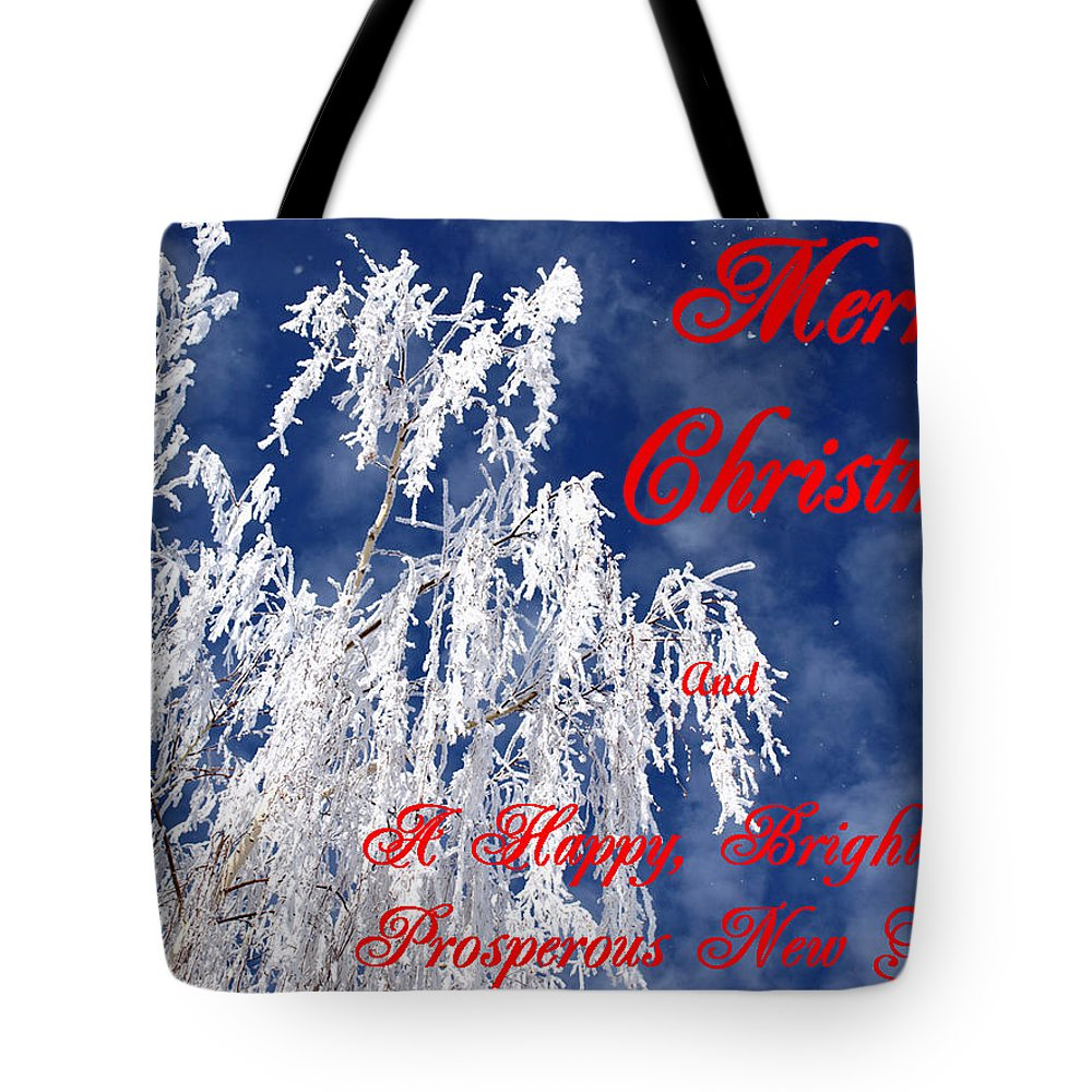 Christmas Tote Bag featuring the photograph Weeping Willow Christmas by DeeLon Merritt