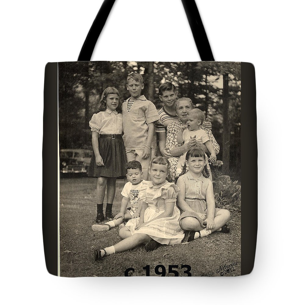 Sooc Tote Bag featuring the photograph Weiner Cousins C 1953 by Ericamaxine Price