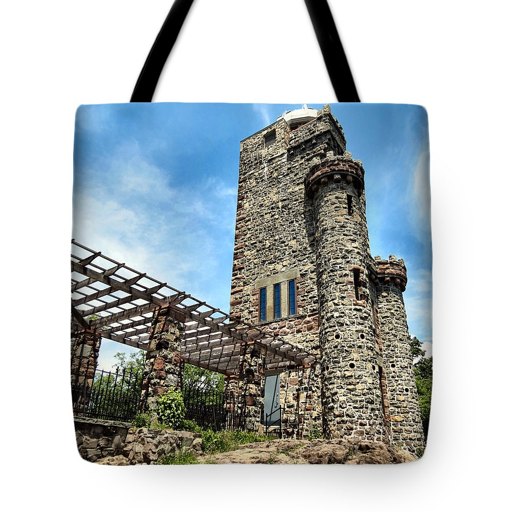 Castle Tote Bag featuring the photograph Published Weird Nj by Art Dingo