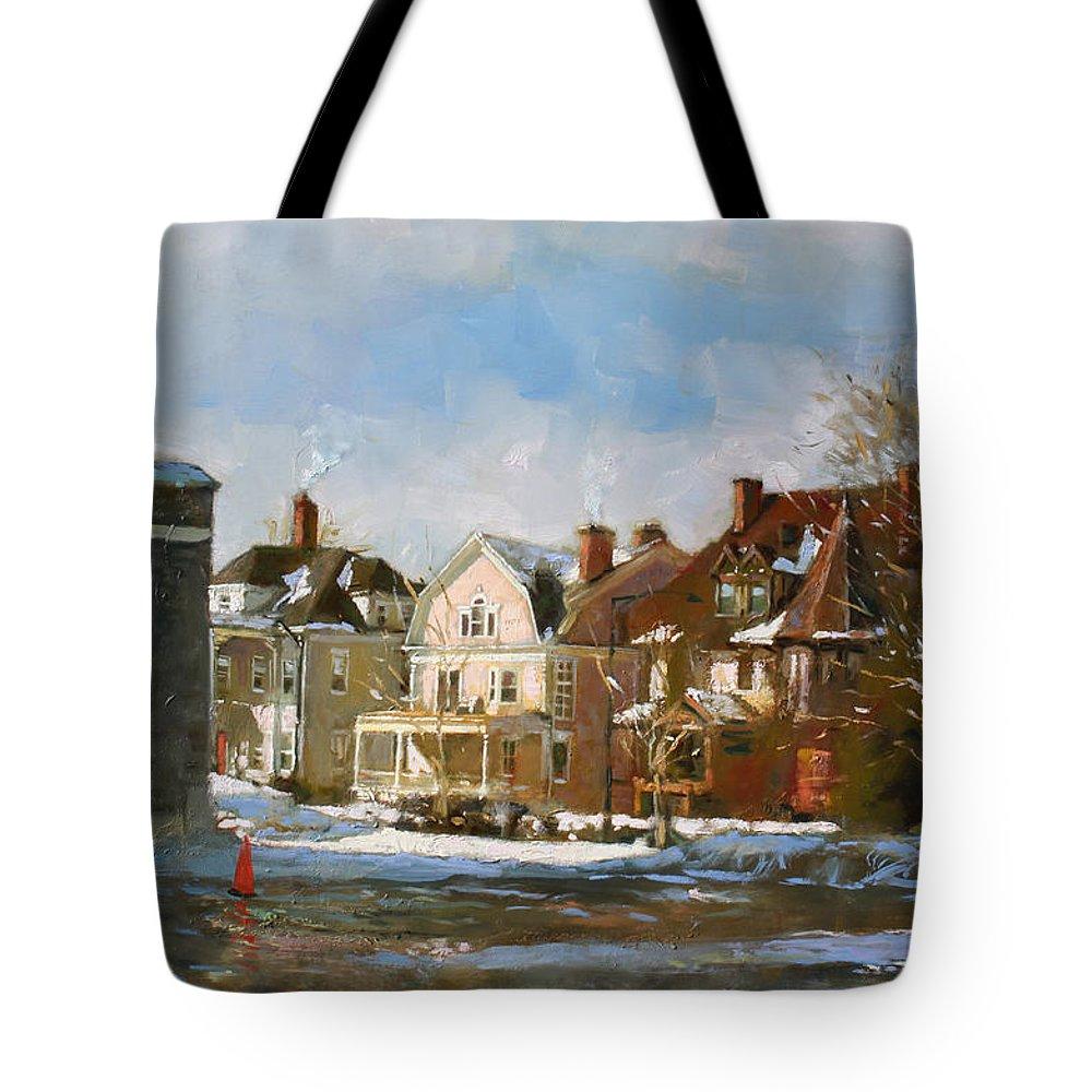 Pylon Paintings Tote Bags