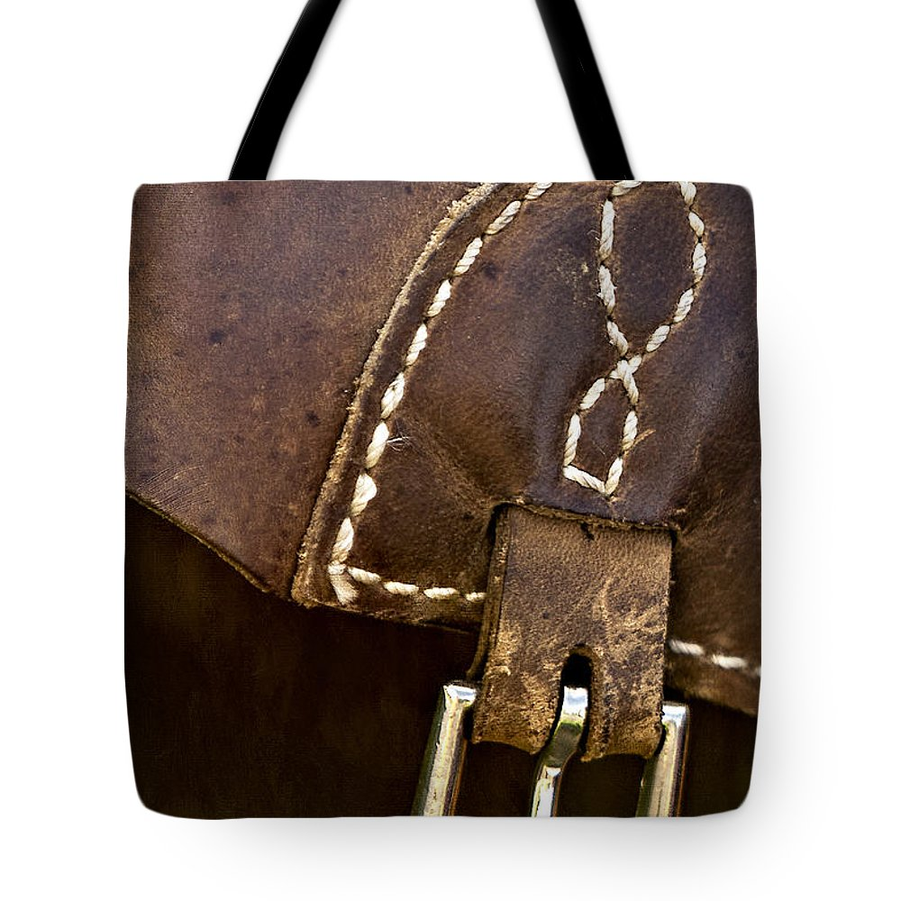Western Tote Bag featuring the photograph Western Chaps Detail by Susan Candelario