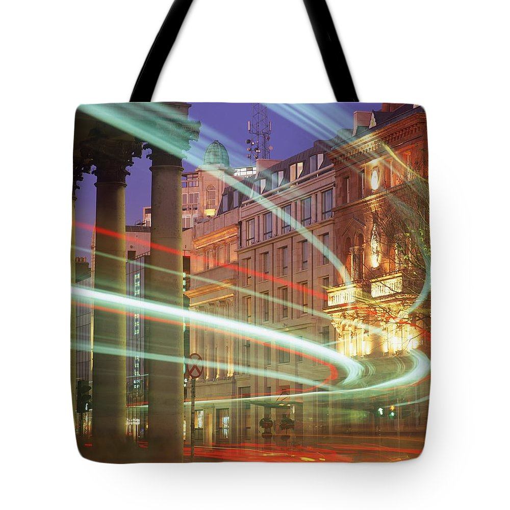 Architecture Tote Bag featuring the photograph Westmoreland Street, Dublin, Co Dublin by The Irish Image Collection