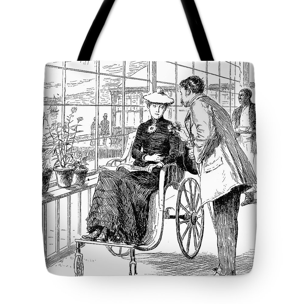 1886 Tote Bag featuring the photograph Wheelchair, 1886 by Granger