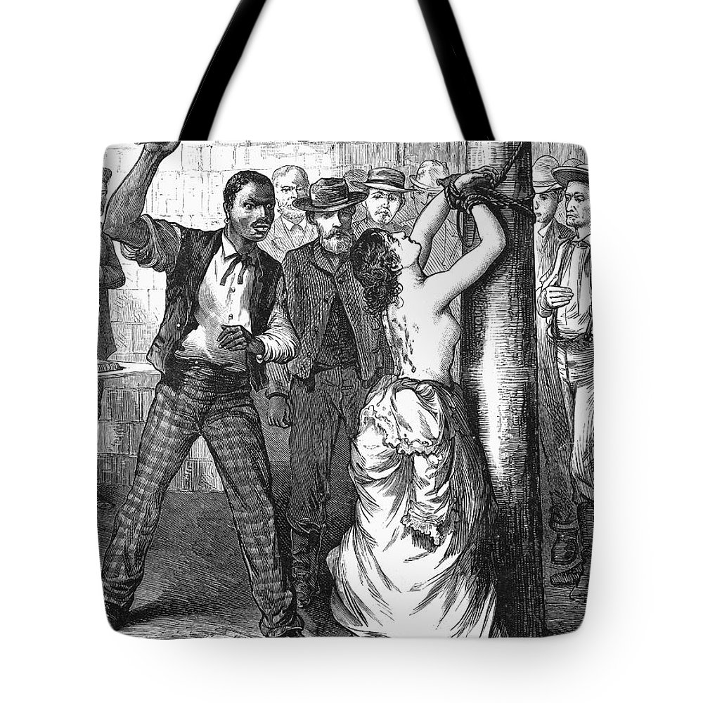 1878 Tote Bag featuring the photograph Whipping Post, 1878 - To License For Professional Use Visit Granger.com by Granger