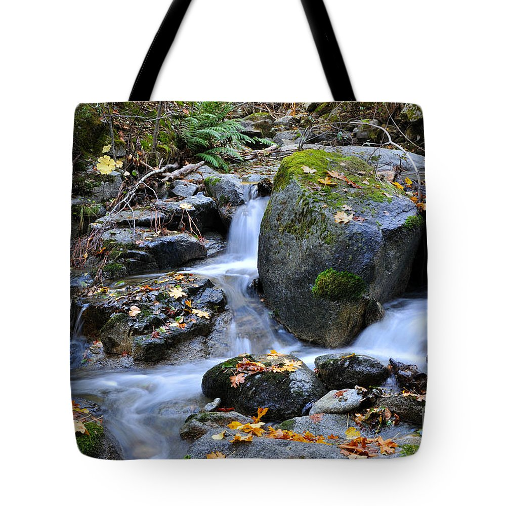 Autumn Tote Bag featuring the photograph Whisketown Stream In Autumn by Gary Whitton