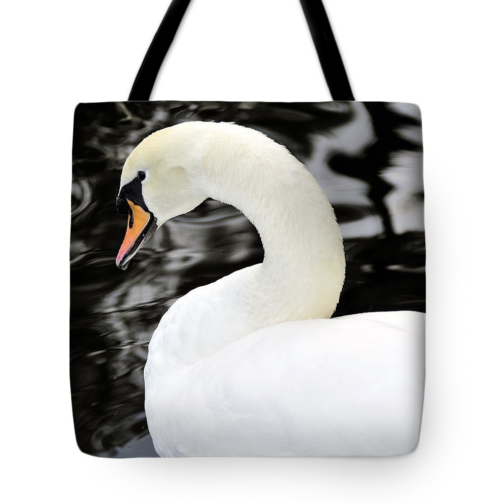 Wildlife Photography Tote Bag featuring the photograph Whistling Swan by David Lee Thompson