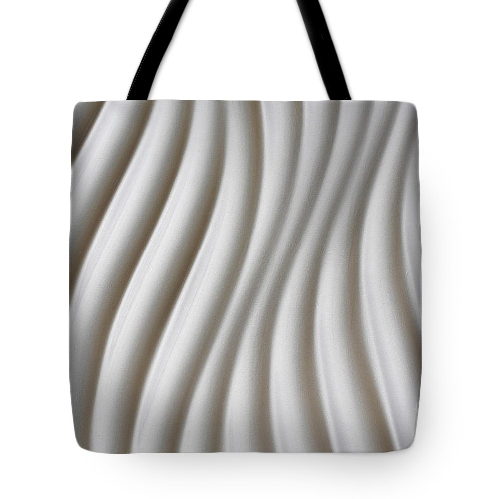 Abstract Tote Bag featuring the photograph White Artistic Background by Roberto Giobbi