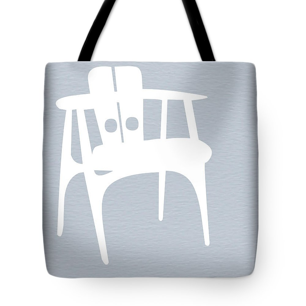 Eames Chair Tote Bag featuring the photograph White Chair by Naxart Studio