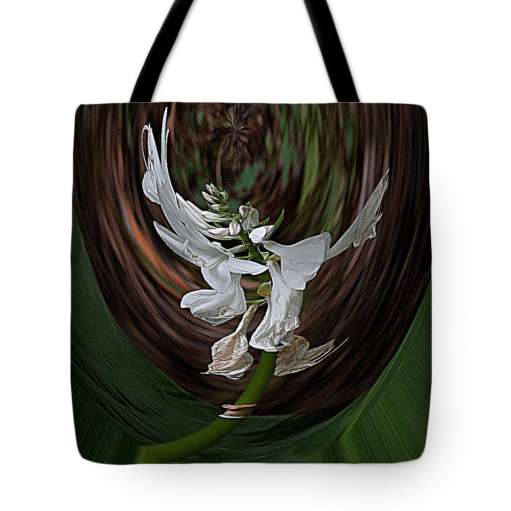 Abstract Tote Bag featuring the photograph White Flight by Robert Sander