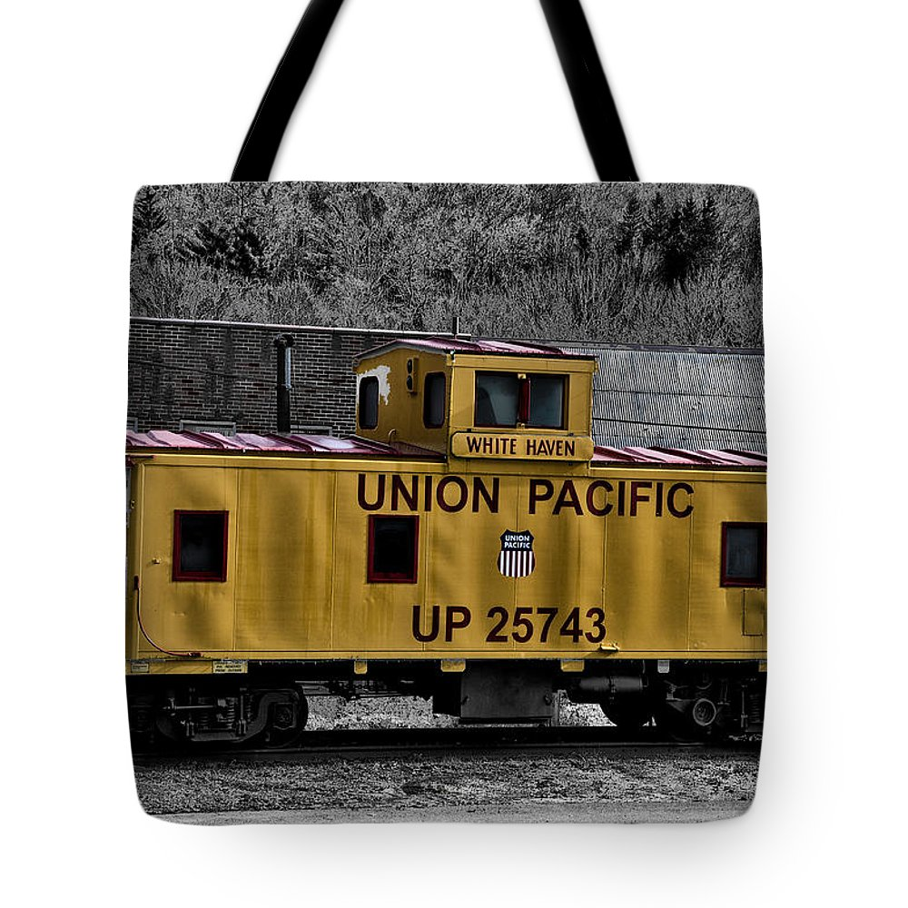 White Haven Tote Bag featuring the photograph White Haven - Union Pacific by Bill Cannon