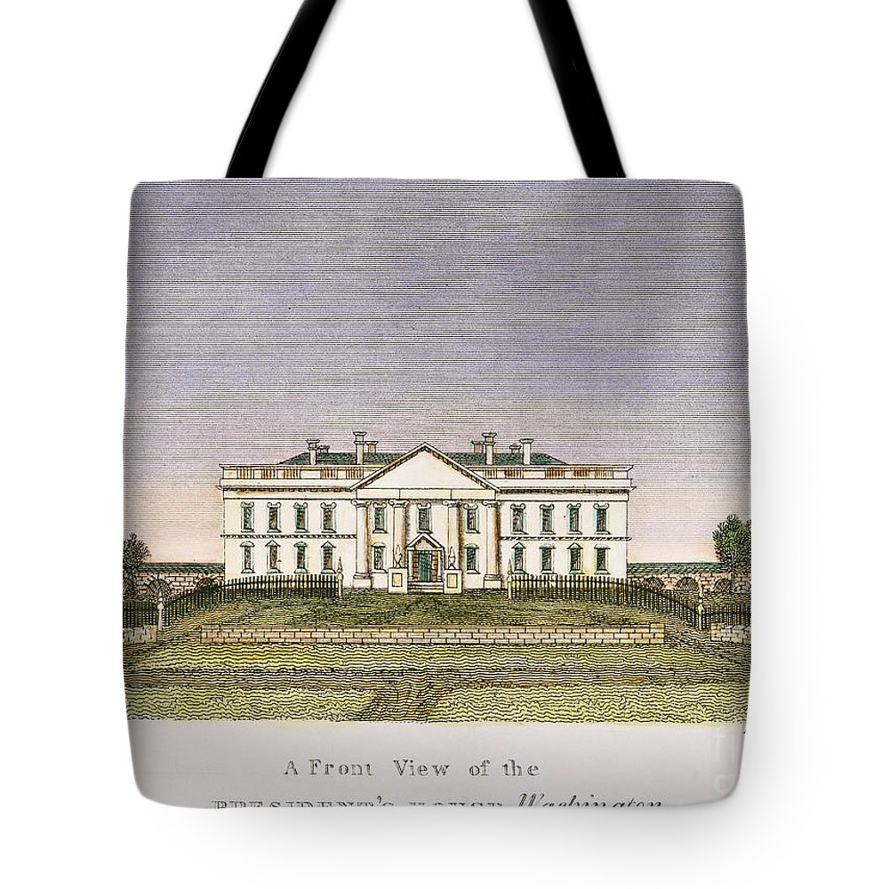 1820 Tote Bag featuring the photograph White House, D.c., 1820 by Granger