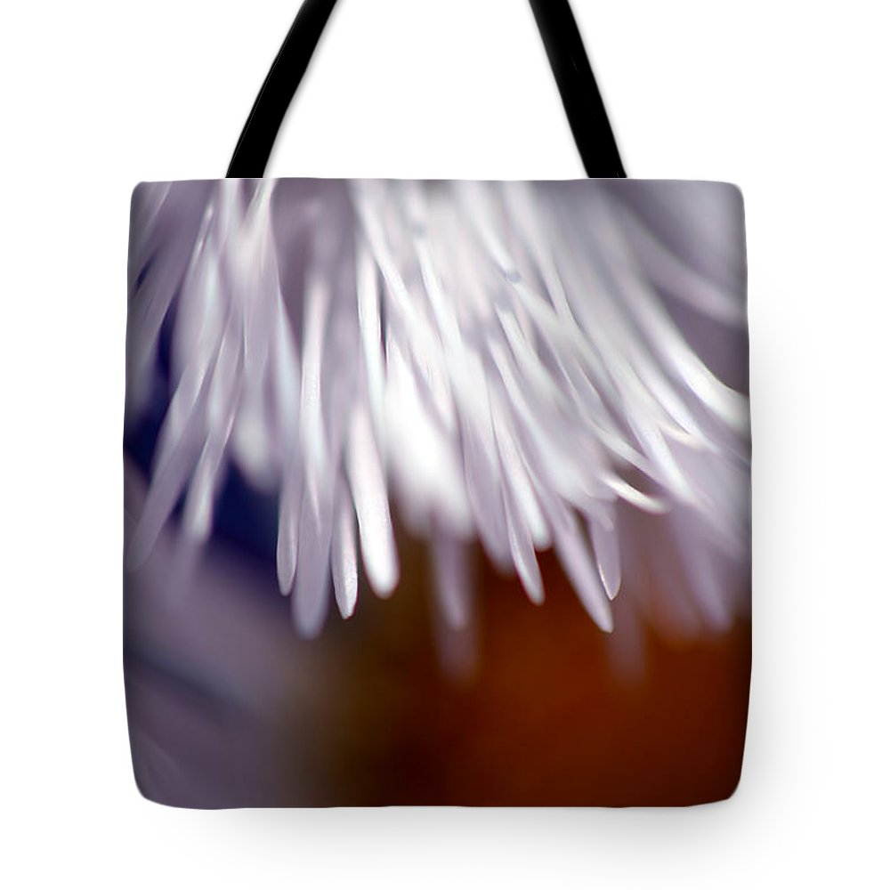 Daisy Tote Bag featuring the photograph White Petals by Lori Tambakis