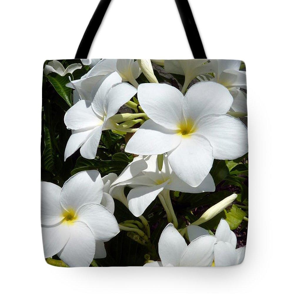 White tropical flowers tote bag for sale by carla parris flower tote bag featuring the photograph white tropical flowers by carla parris mightylinksfo
