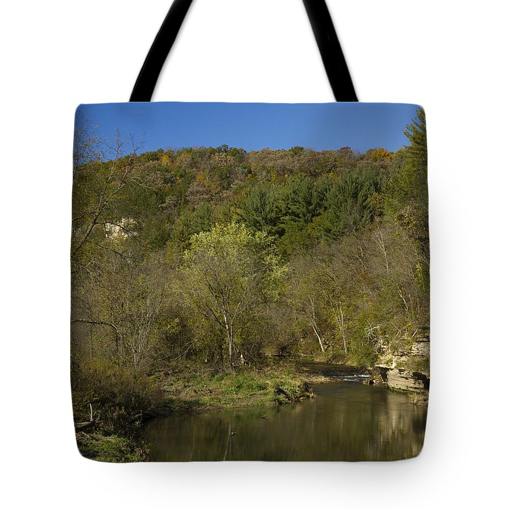 Whitewater Tote Bag featuring the photograph Whitewater River Scene 20 A by John Brueske