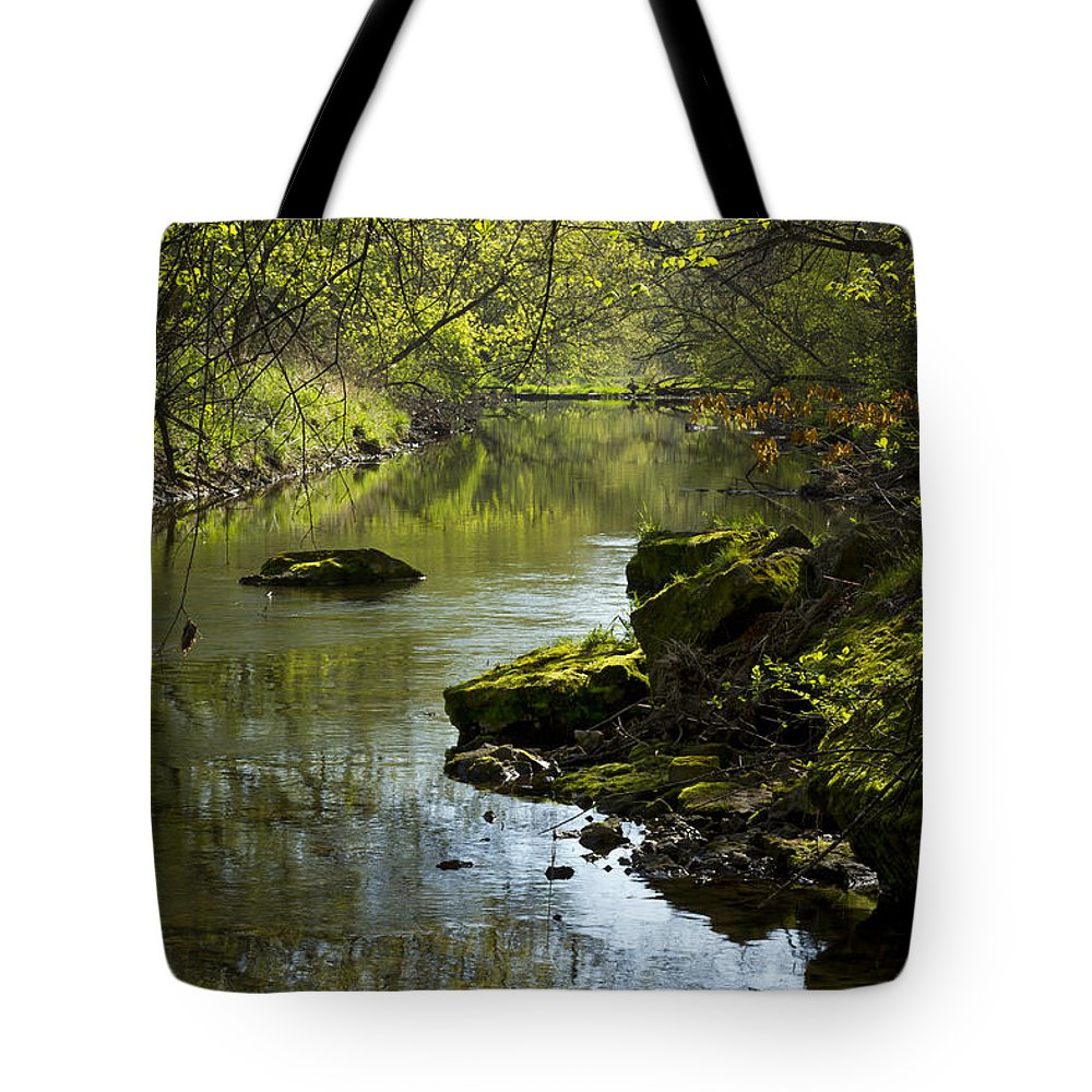 Whitewater Tote Bag featuring the photograph Whitewater River Spring 11 by John Brueske