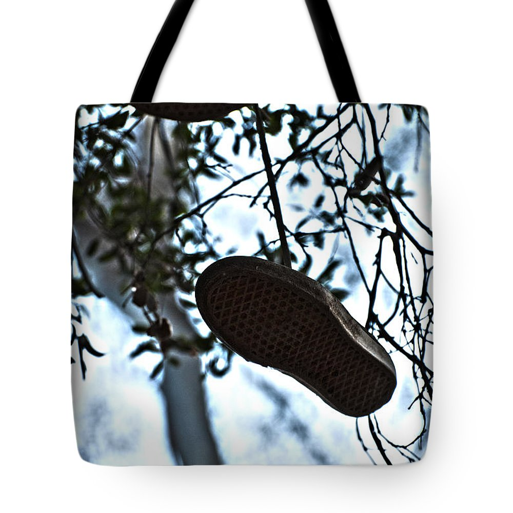 Shoes Tote Bag featuring the photograph Who's Shoes by Stephanie Haertling