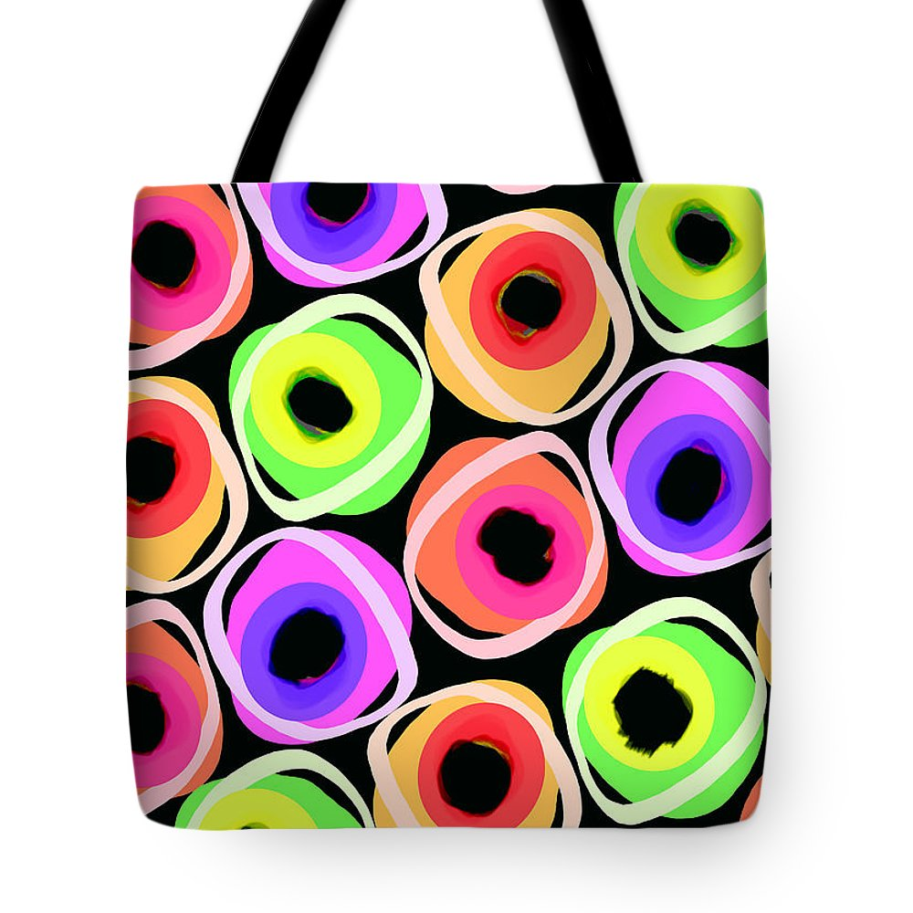 Wild Spots (digital) By Louisa Knight (contemporary Artist) Tote Bag featuring the digital art Wild Spots by Louisa Knight