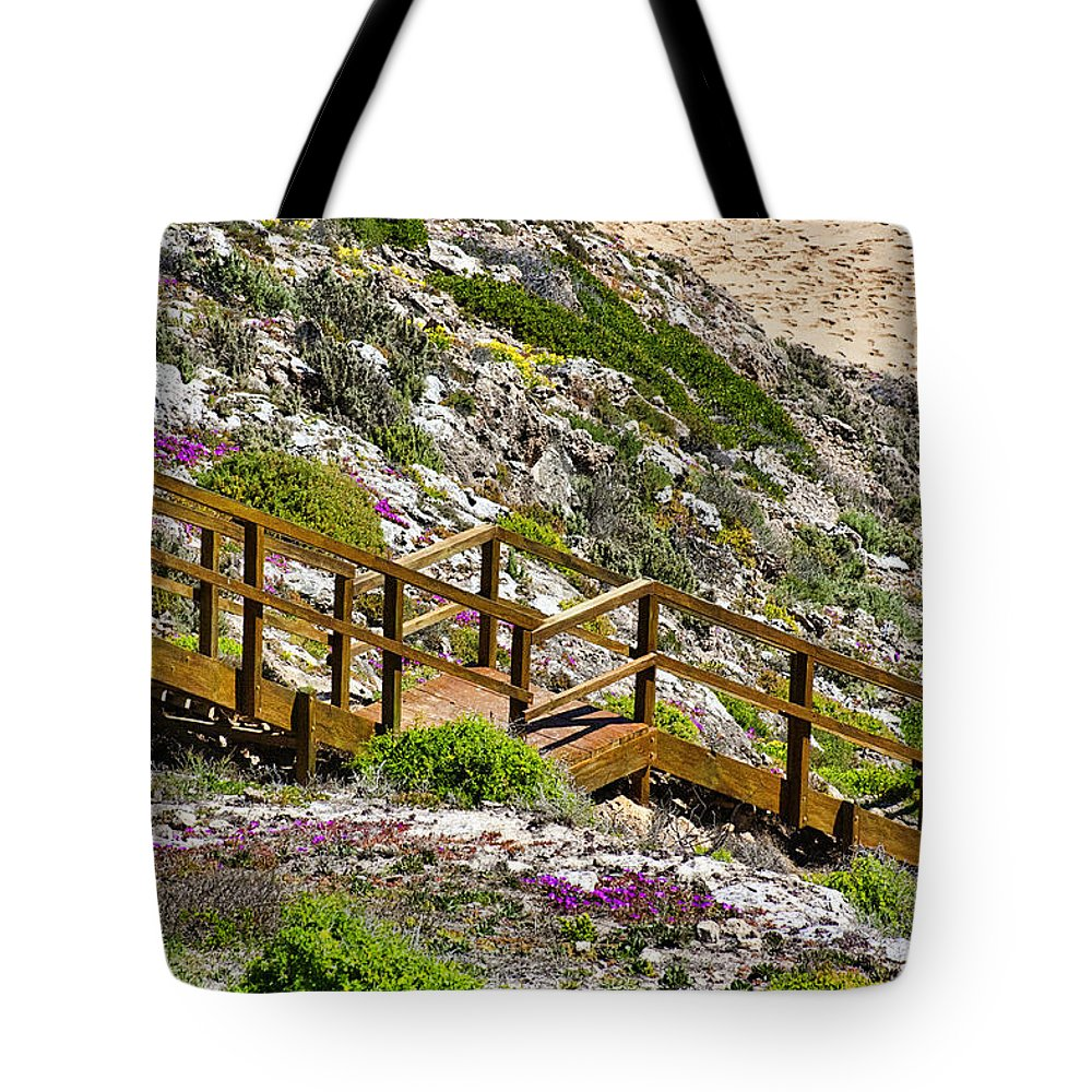 Wildflowers Tote Bag featuring the photograph Wildflower Steps by Douglas Barnard