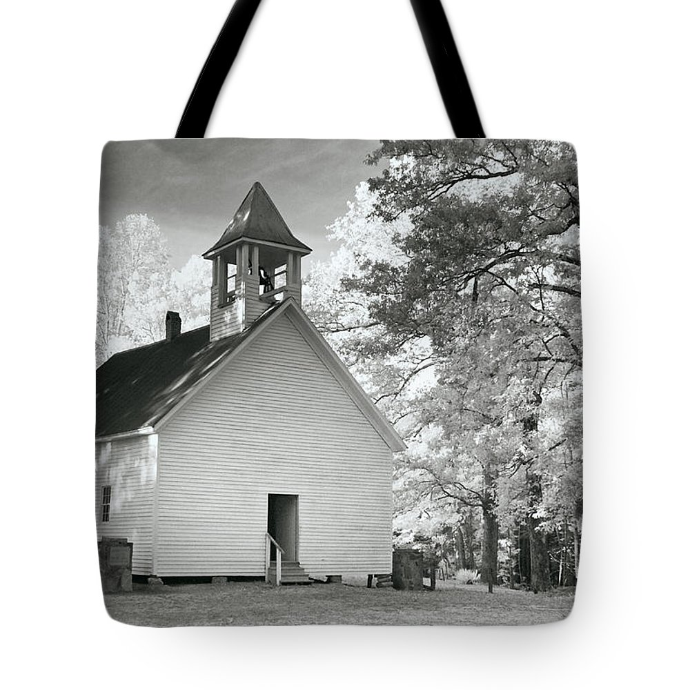 Church Tote Bag featuring the photograph Wildwood Church by Mary Almond