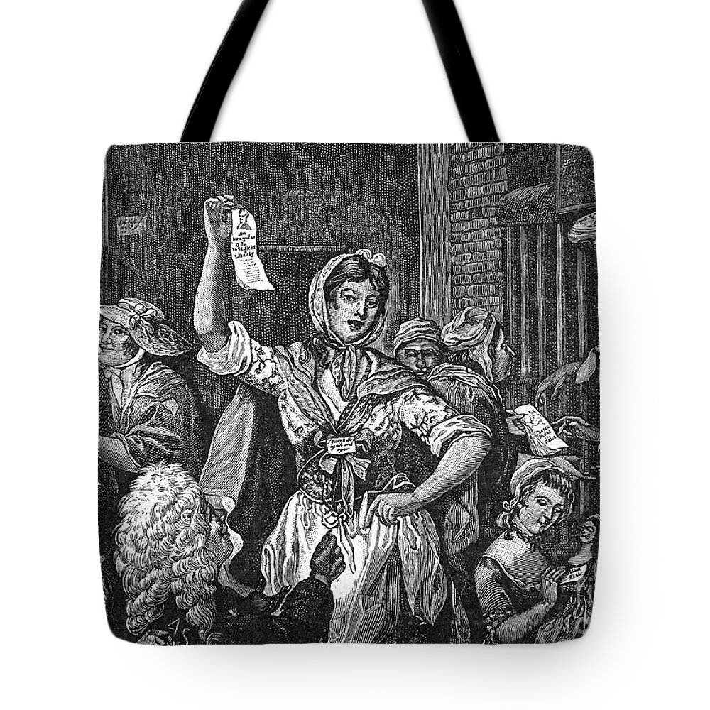 1768 Tote Bag featuring the photograph Wilkes And Liberty Riots by Granger