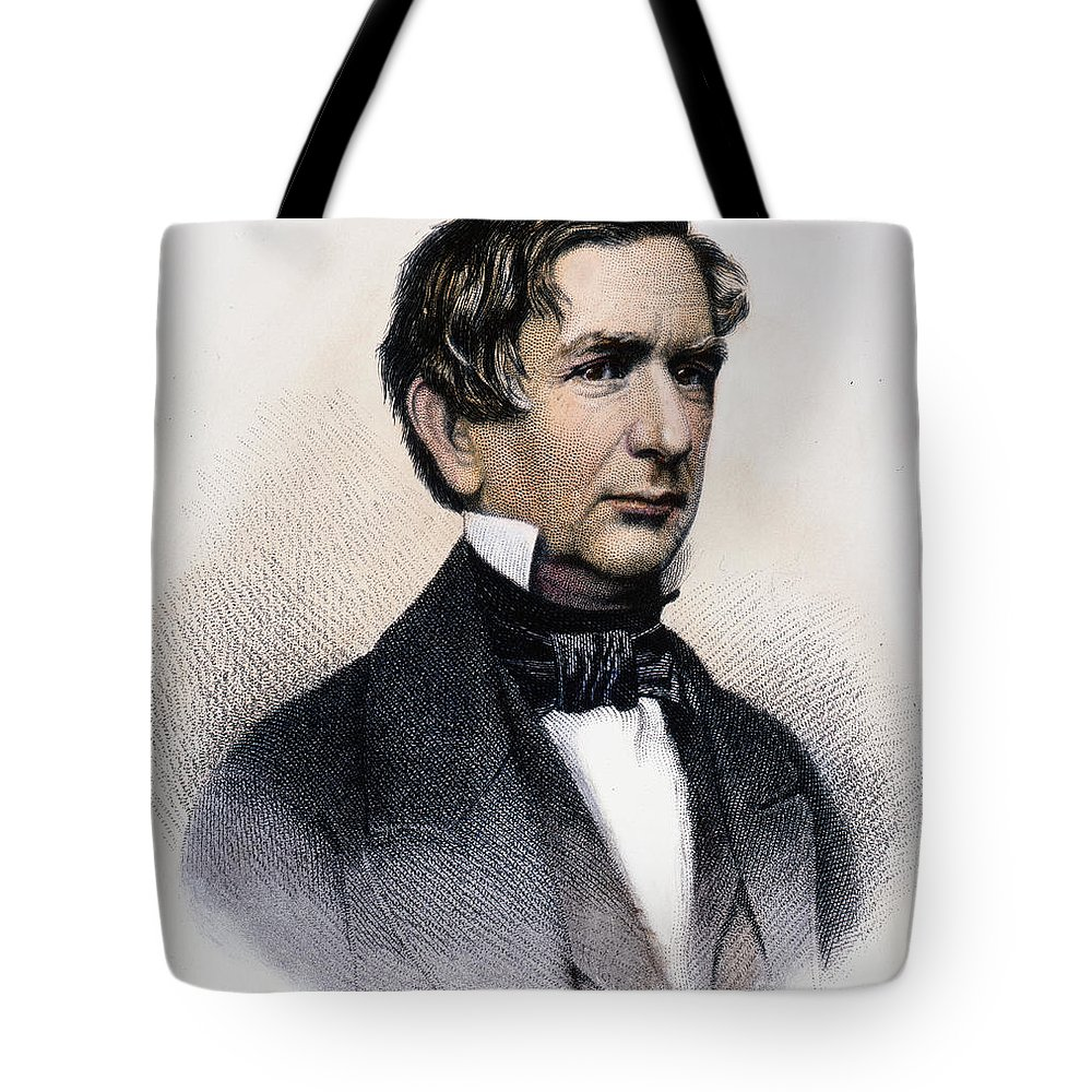 19th Century Tote Bag featuring the photograph William Henry Seward by Granger