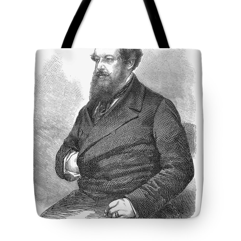 19th Century Tote Bag featuring the photograph William Howard Russell by Granger