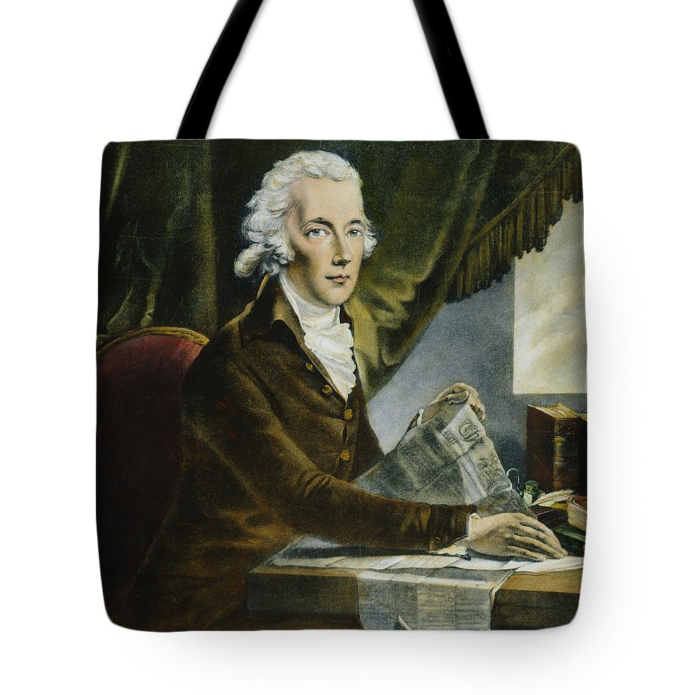 18th Century Tote Bag featuring the photograph William Pitt (1759-1806) by Granger