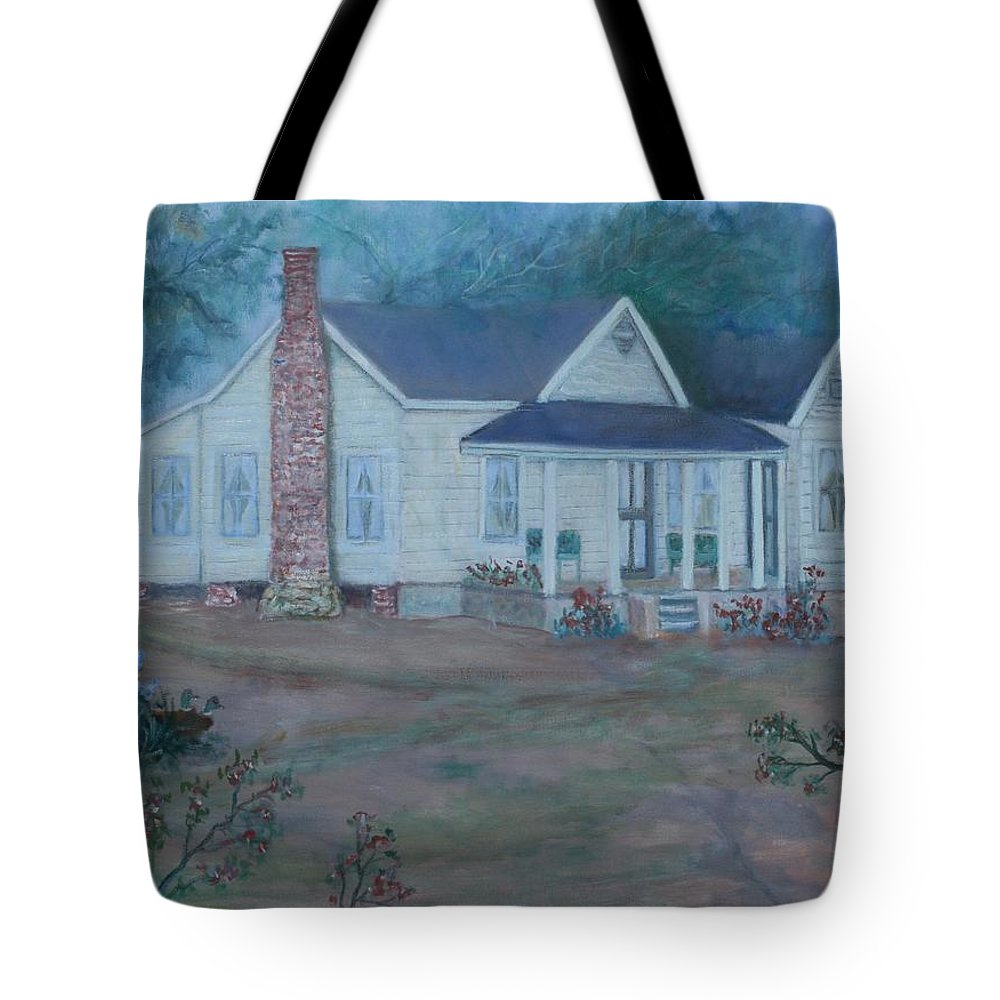 Landscape Tote Bag featuring the painting Wilson Homestead by Ben Kiger