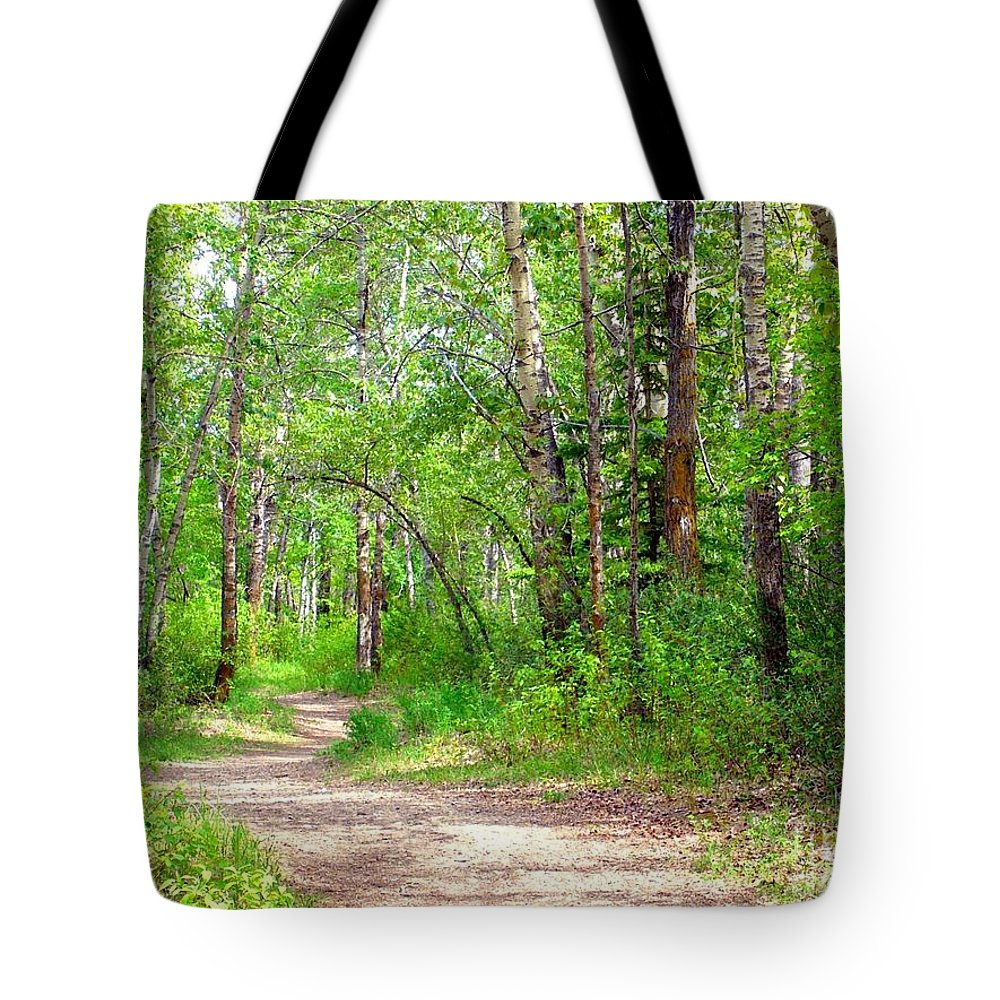 Trees Tote Bag featuring the photograph Winding by Jim Sauchyn
