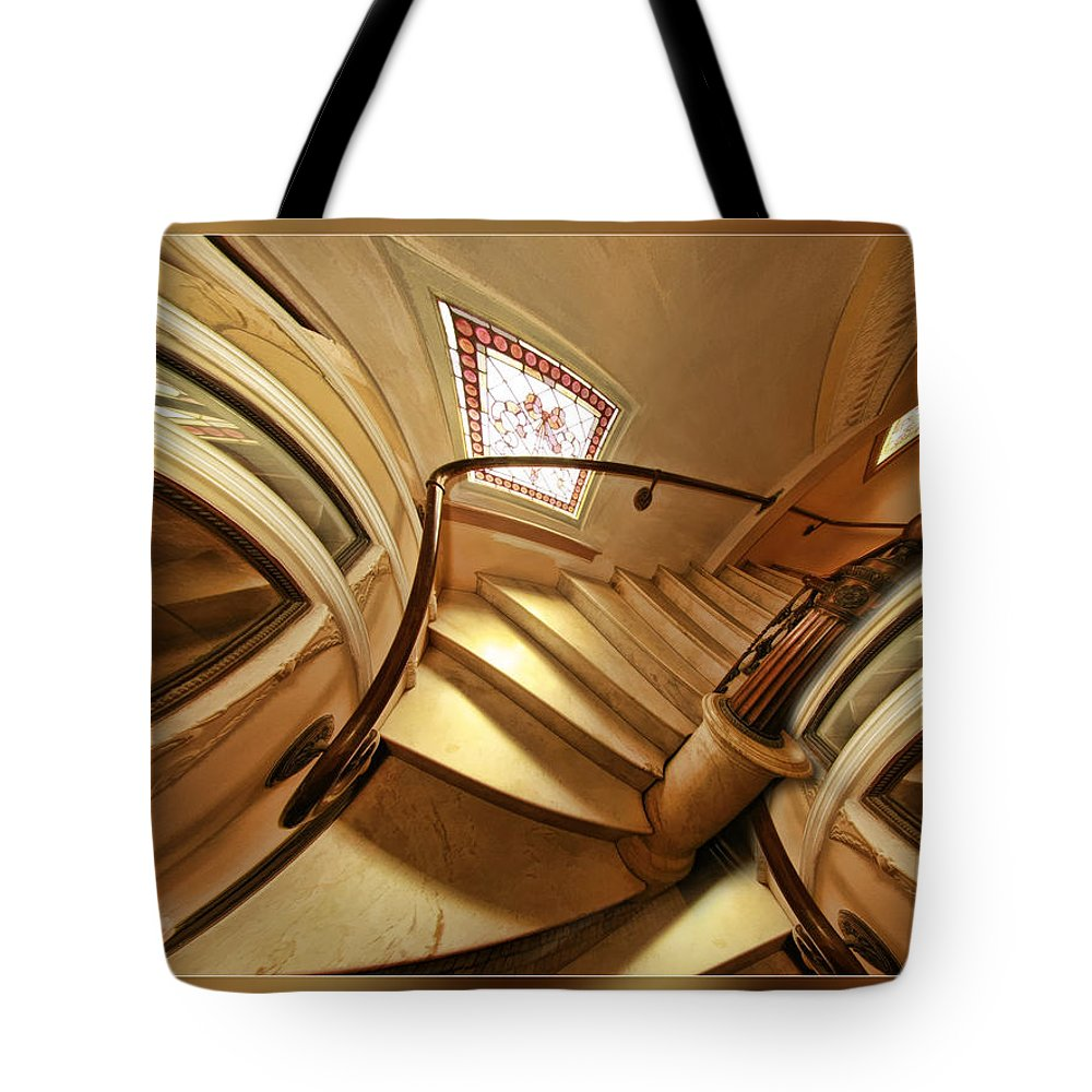 Art Photography Tote Bag featuring the photograph Winding Staircase by Blake Richards