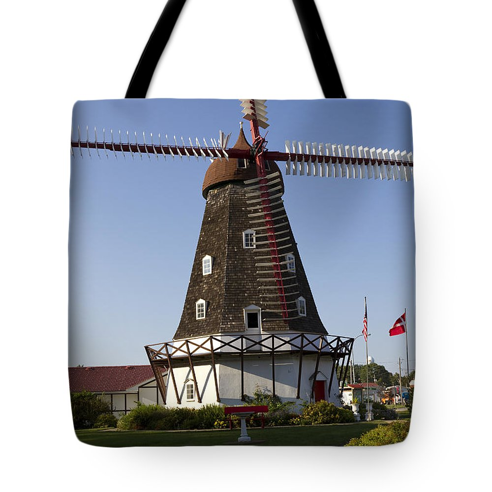 Windmill Tote Bag featuring the photograph Windmill Danish Style 1 A by John Brueske