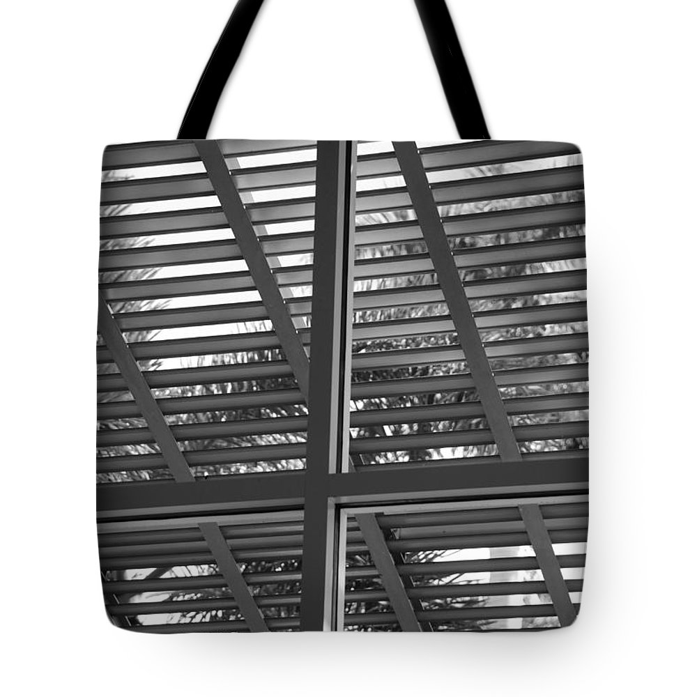 Black And White Tote Bag featuring the photograph Window Box by Rob Hans