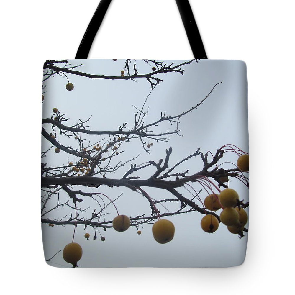 Holly Tote Bag featuring the photograph Windy Yellow Holly Five by Tina M Wenger