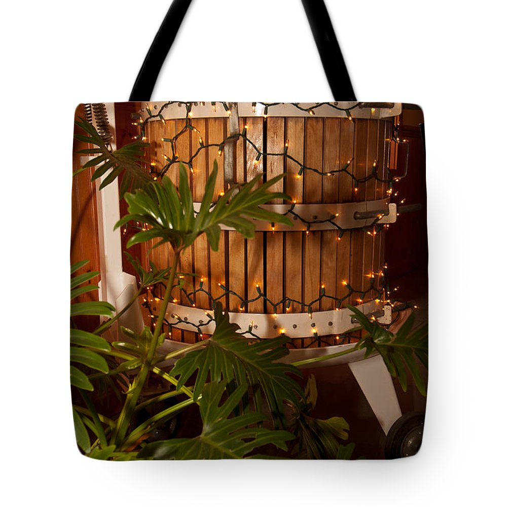 wine Press Tote Bag featuring the photograph Wine Press by Paul Mangold
