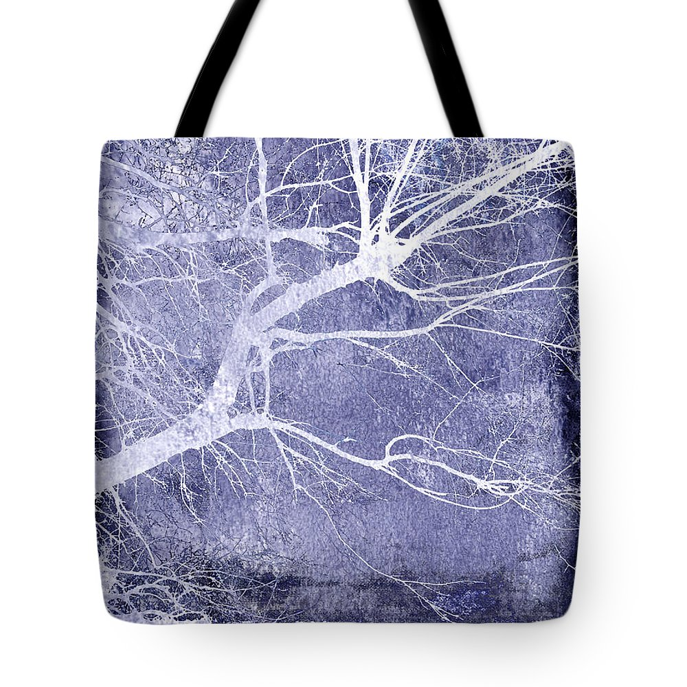 Abstract Nature Art Tote Bag featuring the photograph Winter Blues by Ann Powell