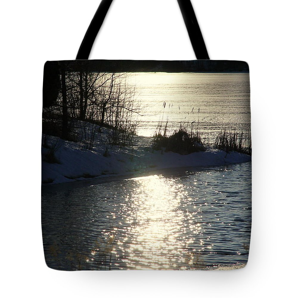 Winter Tote Bag featuring the photograph Winter Dusk by Valentino Visentini