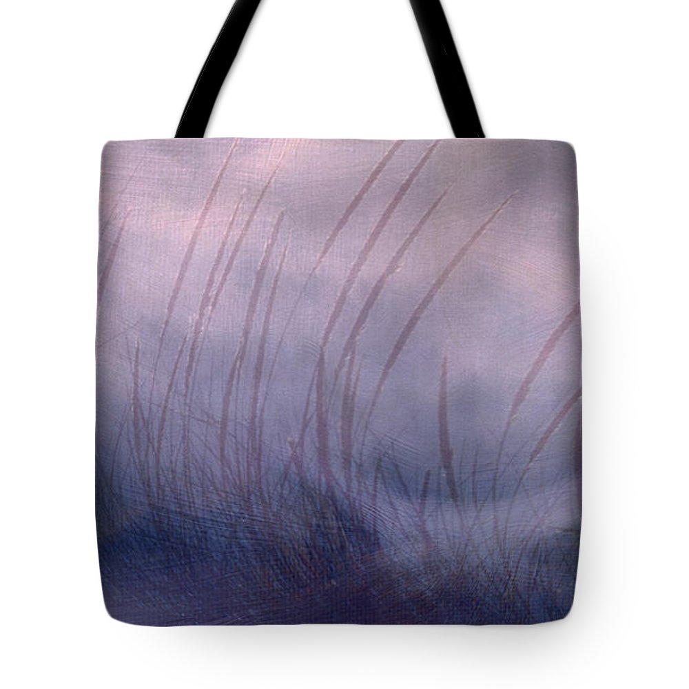 Landscape Tote Bag featuring the painting Winter Long Grass by Jean Moore