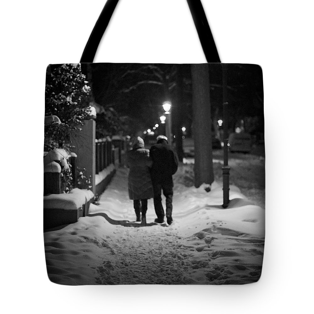 Age Tote Bag featuring the photograph Winter Walk by Jannis Werner