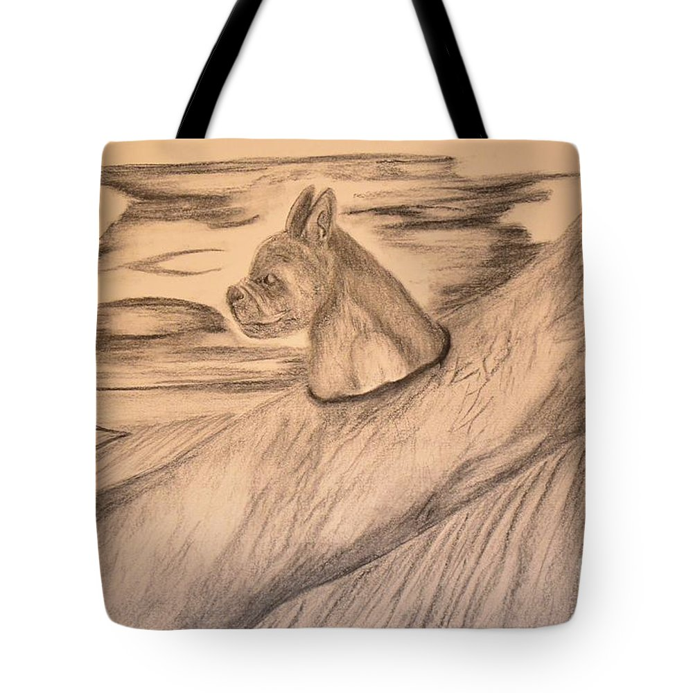 Without A Paddle Tote Bag featuring the drawing Without A Paddle by Maria Urso