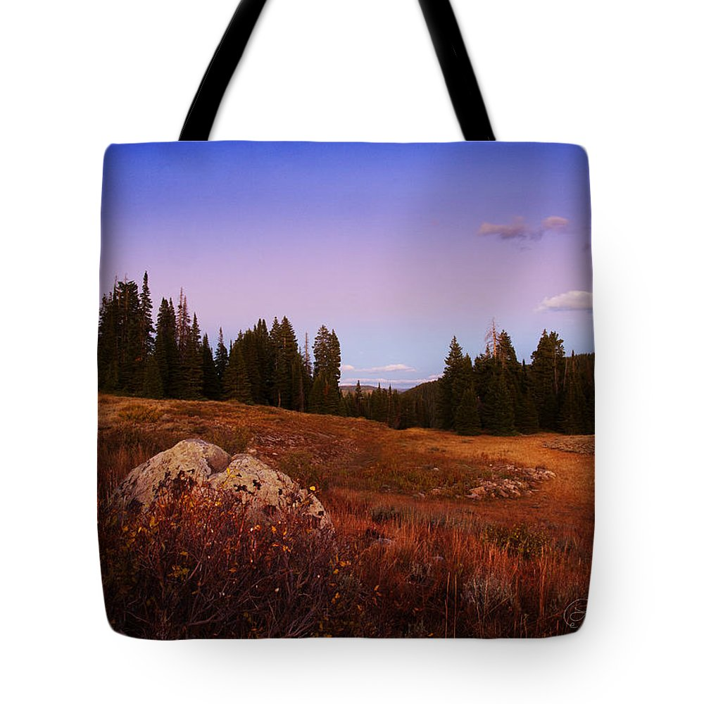 Landscapes Tote Bag featuring the photograph Wolf Creek Twighlight by La Rae Roberts
