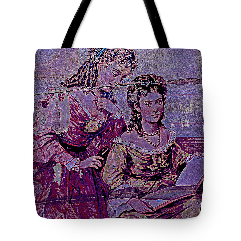 Female Tote Bag featuring the photograph Women Friends by Diane montana Jansson