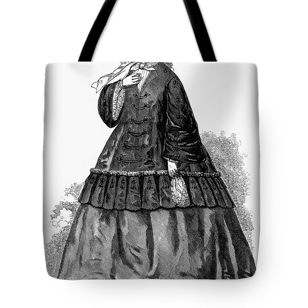 1850s Tote Bag featuring the photograph Womens Fashion, C1850s by Granger