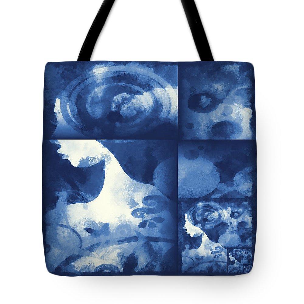 Wonder Tote Bag featuring the digital art Wondering 4 by Angelina Vick