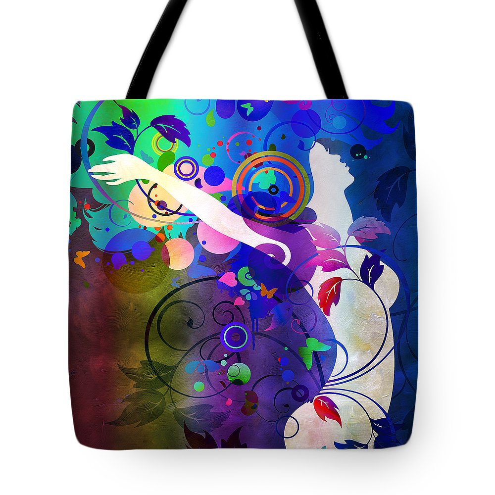 Amaze Tote Bag featuring the mixed media Wondrous by Angelina Tamez