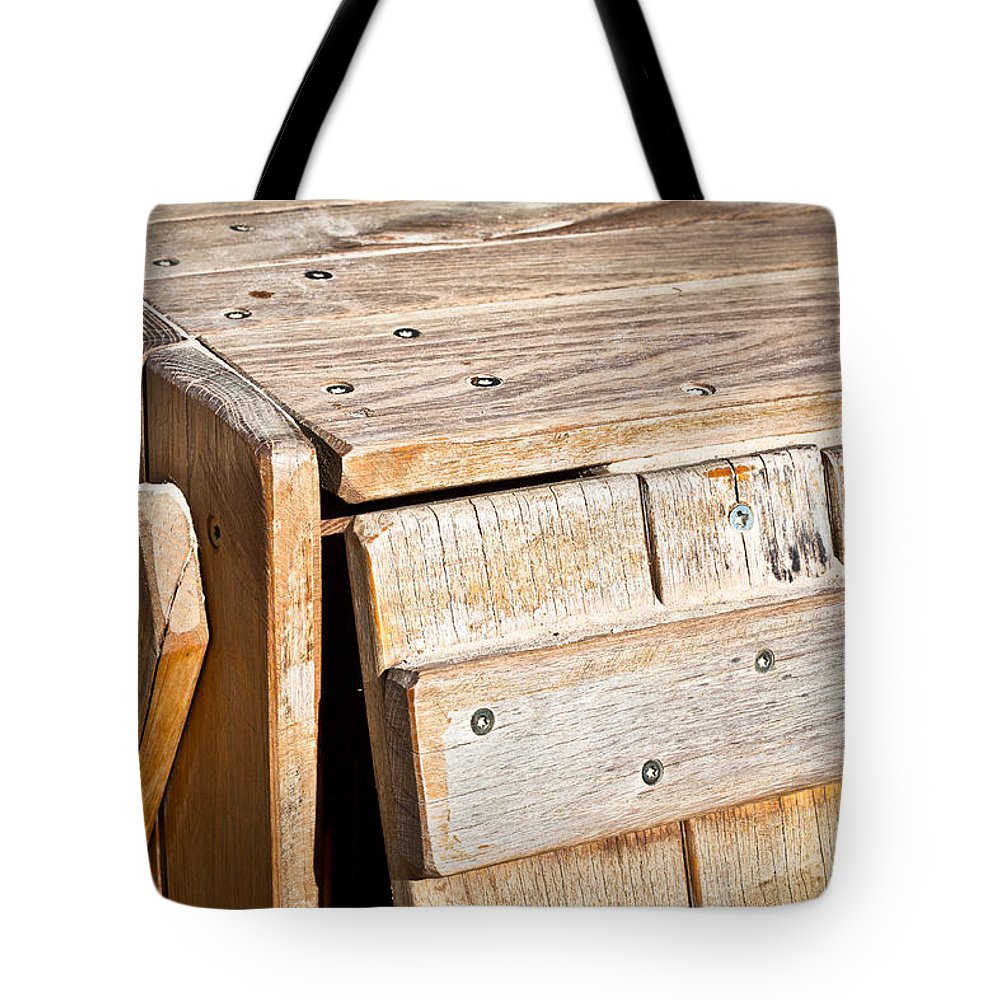Background Tote Bag featuring the photograph Wooden Crate by Tom Gowanlock