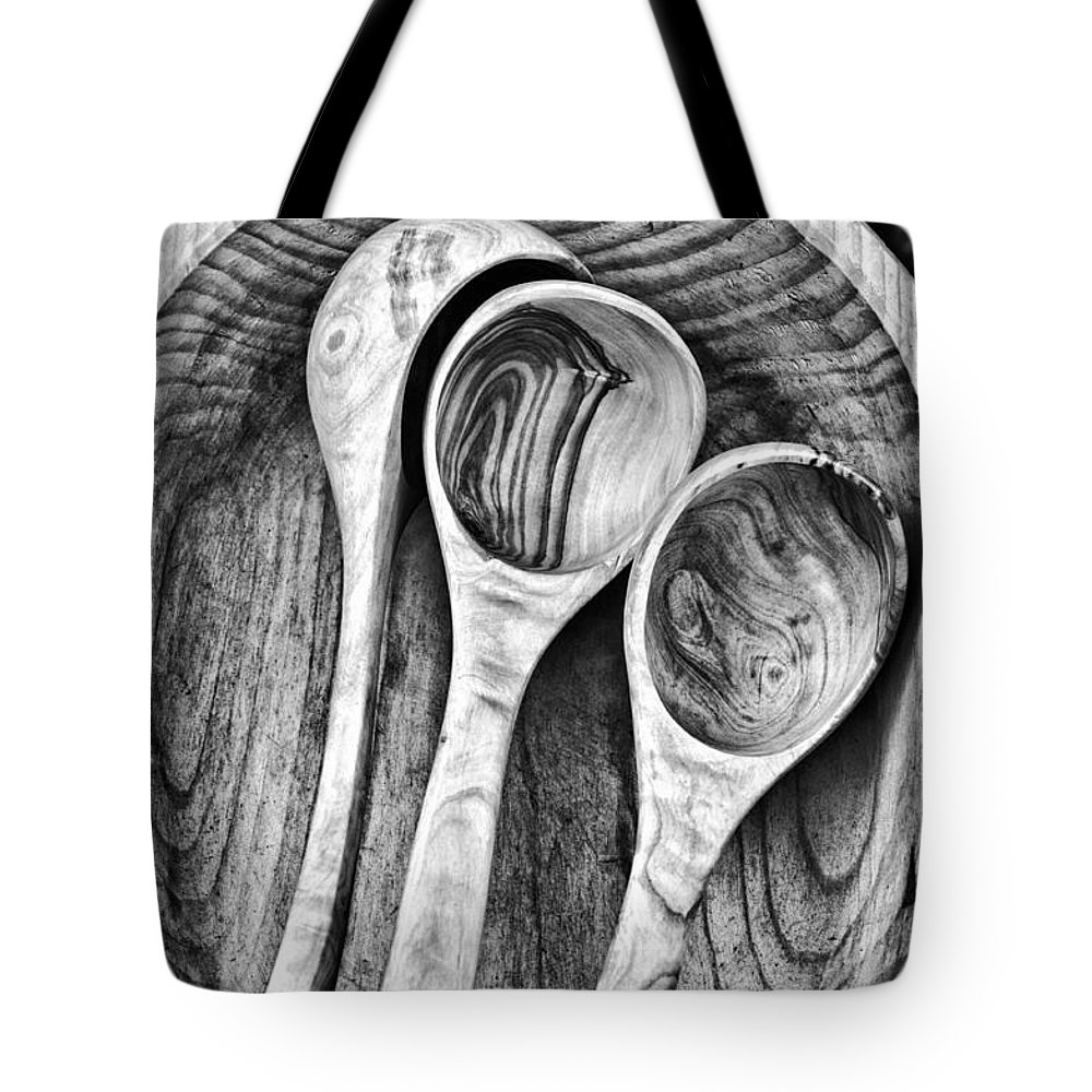 Dipper Tote Bag featuring the photograph Wooden Ladles by Silvia Ganora