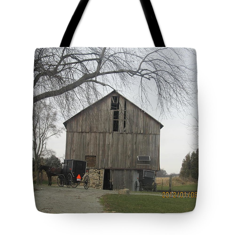 Barns Tote Bag featuring the photograph Working Barn by Tina M Wenger